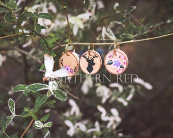 Hand Painted Wooden Key Chain