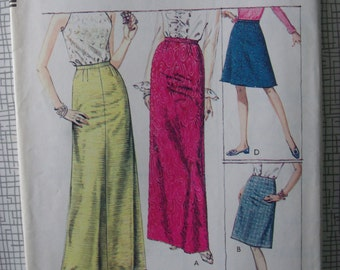 "1967 Skirt - 27"" Waist - Style 2031 - Vintage Retro 1960s Sewing Pattern"