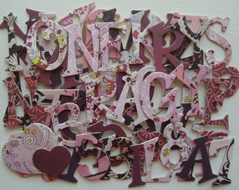 "EVA Chipboard Letters & Alphabet Die cuts with Hearts .. 1.5"" Tall"
