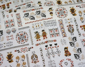 Vintage country style print fat quarter A11