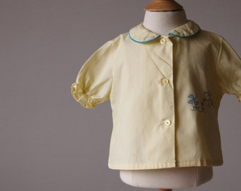 1960s Puppy Blouse~Size 9 Months