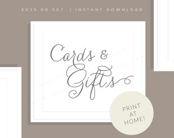 Gray Printable Cards & Gifts Sign   Printable Wedding Cards Sign   Downloadable Wedding Sign   Printable Reception Sign   Jessica Collection