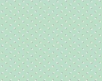 SALE ~ Mint rosebuds fabric ~ Sew Charming by Bo Bunny for Riley Blake ~ 100% woven cotton ~ by the yard
