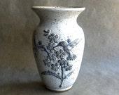 Vintage Texas Pottery Vase Hummingbird Humming Bird Design Gus and Lola Gikas Dated 1982 Spring Decor
