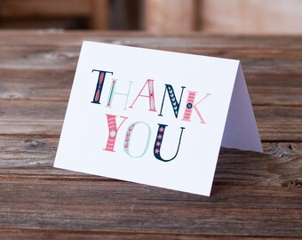 Thank You Card | Lovely Letters | Greeting Card | Typography