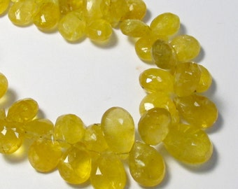 Rare Yellow Aquamarine Heliodor Briolette Beads,  Golden Beryl Briolette Beads