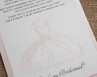 Bridesmaid Gifts, Gifts for Bridesmaid, Wedding Party Cards