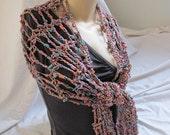 Jewel Toned Asymmetrical Wrap/Scarf (5412)