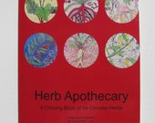 Herb Apothecary: a Coloring Book of 54 Chinese Herbs