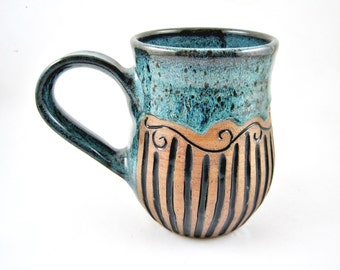 Handmade pottery mug, ceramic mug, large coffee mug, 24oz - In stock