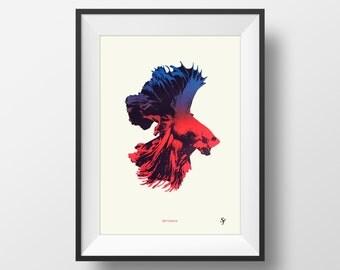 Bettamax original silkscreen art print