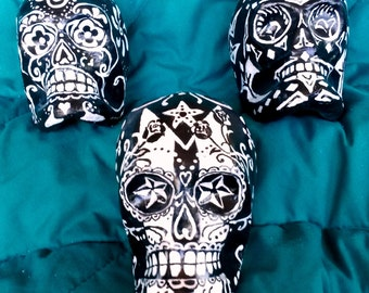 Day of the Dead Skulls Classic Black & White