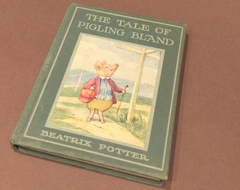 The Tale of Pigling Bland Beatrix Potter Frederick Warne 1940s vintage childrens book . bedtime story . antique book