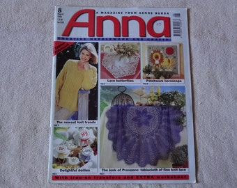 Anna Creative Needlework and Crafts August 1998 with Patterns intact (1)