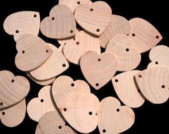 Unfinished Heart Tag, Wood Heart Pendant, Birthday Board Tag, Wedding Guestbook, Birthday Calendar Tag, Wedding Favor Tag, Wood Favor Tag
