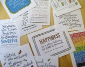 Handwritten Quotation Stickers