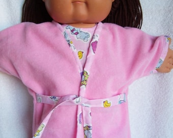 Cabbage Patch Doll Clothes, Robe and Pajamas, fits 16inch to 18inch Baby Dolls
