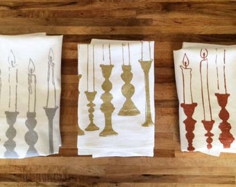 Candlelight Dinner Tea Towels Set of Three
