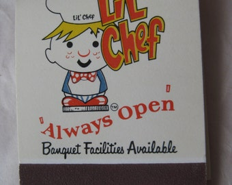 Lil' Chef Matchbook Vintage Matches