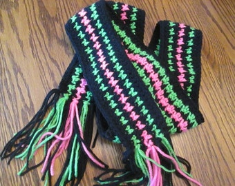 Crochet Houndstooth Scarf
