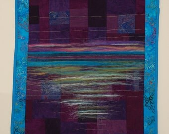 Reflections Quilted FIber Art Wall Hanging