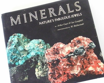 Vintage Book, Minerals: Nature's Fabulous Jewels from Harry Abrams, Publisher