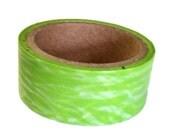 DESTASH SALE Washi Tape, Green Waves, 15mm x 10 yds, Scrap Booking Supplies