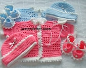 Cardi, hat and shoes Baby Crochet Pattern (DOWNLOAD) 55