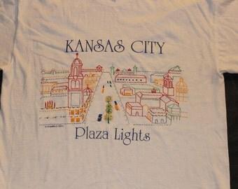Vintage Kansas City KC Plaza Lighting Ceremony tshirt 1988 Large 42-44