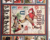 Graphic 45 12x12 Good Ol' Sport Double Sided Scrapbooking Vintage Paper 16 Sheets Total