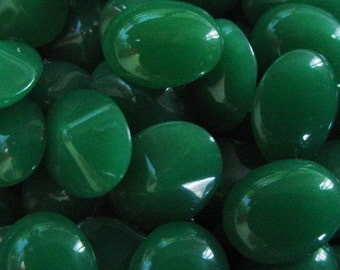 Wholesale 36pc Jade Old Japan 10/8 mm Oval Faceted Pointed Back Glass Loose Rhinestone Jewels Vintage Stones Cabochon Top 8/10 mm Bulk 12D