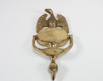 Vintage eagle door knocker  doorknocker golden eagle door knocker