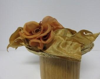 Whimsical straw open crown tilt hat