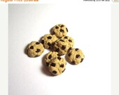 SALE Chocolate Chip Cookie Beads Set Of 8