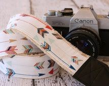 Arrow Camera Strap. dSLR Camera Strap.  Camera Strap. Cute Camera Strap.  Camera Strap for Nikon, Canon.  Gift for Her.