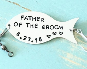 FATHER Of The GROOM Gift, Fishing Lure Personalized, Gift For Dad, Gift For Father, Gift For Fisherman, Wedding Gift, Daddy, Custom Lure