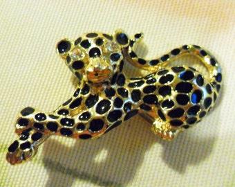 Vintage Leopard Cub Brooch