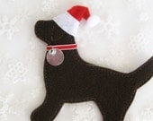 Chocolate Lab North Pole Retriever Ornament - FREE Personalization