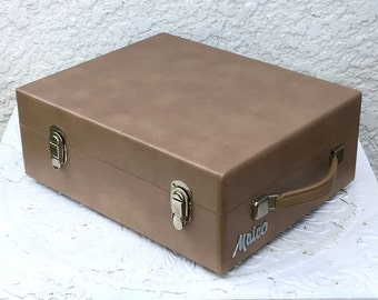 Vintage Hard Shell Travel Case, Maico, Removable Lid