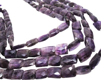 Amethyst Beads, Faceted Pillow Cut, February Birthstone, SKU 4314A