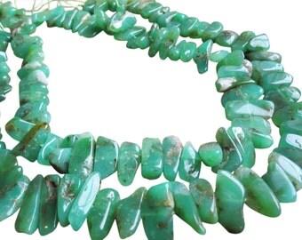 Green Chrysoprase Beads, Nuggets, Australian Chrysoprase, SKU 2908