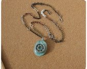 Roller Derby Bearing Necklace - hand cast pendant