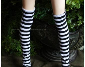 ABJD Dollfie SD CP Delf Musedoll super cute goth striped overknee socks