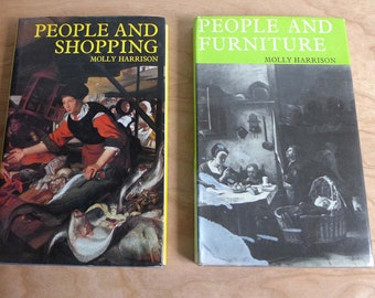 People and Furniture People and Shopping Molly Harrison Books  English Life 1970s Benn Rowman and Littlefield