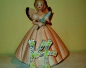 Birthday Girl Angel Figurine Cake Topper Vintage 14 Years Josef Originals
