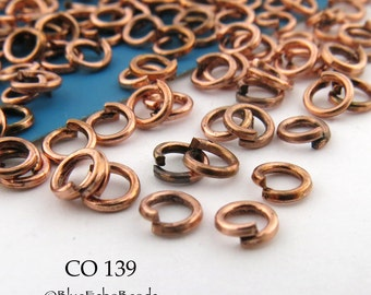 4mm Tiny Copper Plated Jump Ring Connector Open Link (CO 139) 200 pcs BlueEchoBeads
