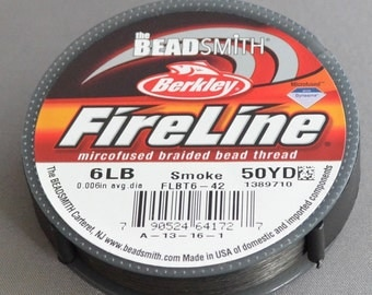 Fireline Smoke color 6 lb. 50 yard spool
