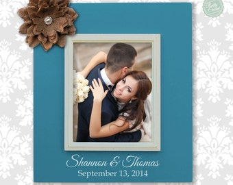Personalized wedding frame, personalized wedding gift, newlywed frame, last name frame, personalized 8X10 picture frame