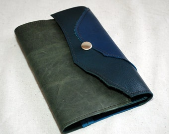 2016 Gray-Blue Leather Planner- Refillable
