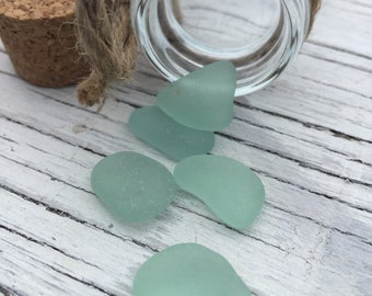 Bulk Sea Glass Lot Pendant Size Sea Foam Green Jewelry and Craft Supply